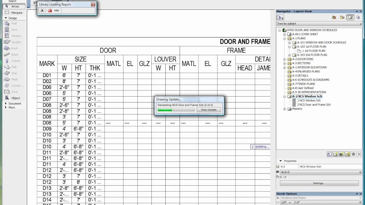 how to make a door and window schedule in revit
