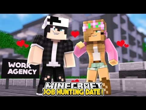 LITTLE KELLY AND RAVEN GO ON A JOB HUNTING DATE TOGETHER !!!!!!! | Minecraft Love Story |