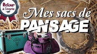 RETOUR A L'ECURIE II -  Mes sacs de pansages.
