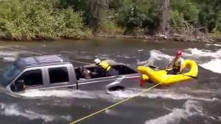 Dog Rescued from Submerged Truck in Swift River Waters Thumbnail
