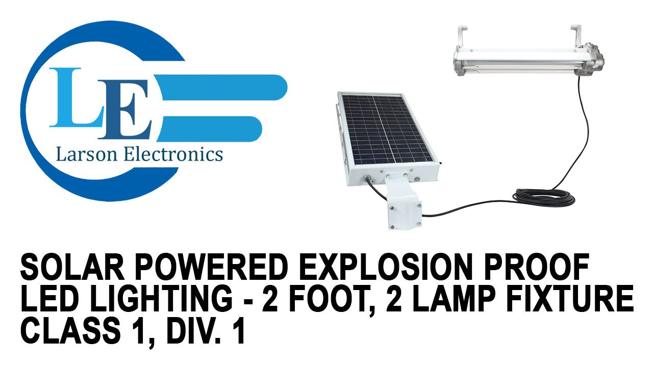 solar powered explosion proof led lighting 2 foot 2 lamp fixture