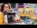 DELICIOUS ART SUPPLY HAUL   Brush Pens  Watercolors  Etchr Satchel and More  Fall 2018