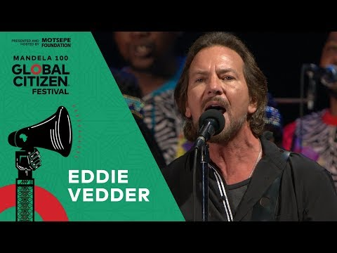 "Eddie Vedder Performs ""Long Road"" with Soweto Gospel Choir 