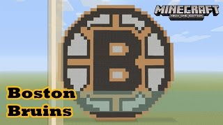 Minecraft: Pixel Art Tutorial and Showcase: Boston Bruins Logo (NHL)
