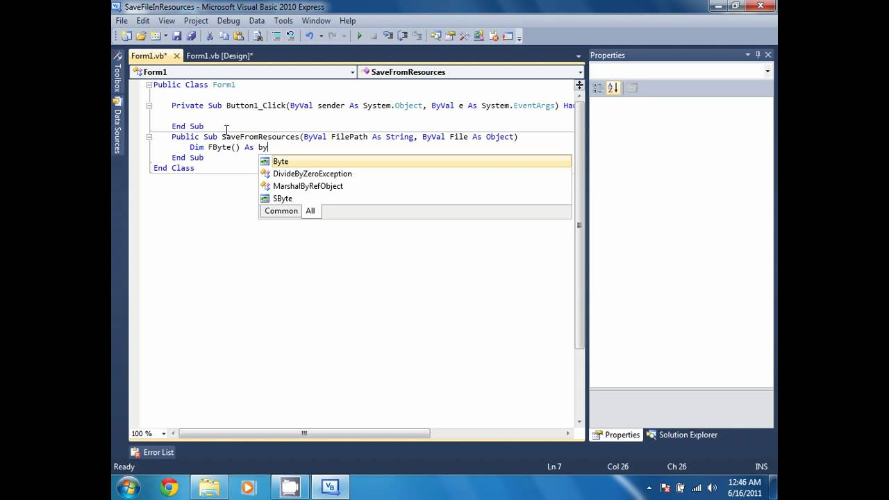Writing services in vb net