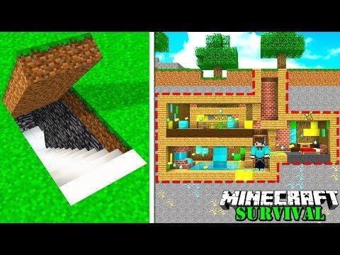 CARA MEMBUAT RUANG RAHASIA OTOMATIS ANTI MALING PALING AMAN ! Minecraft Survival #71