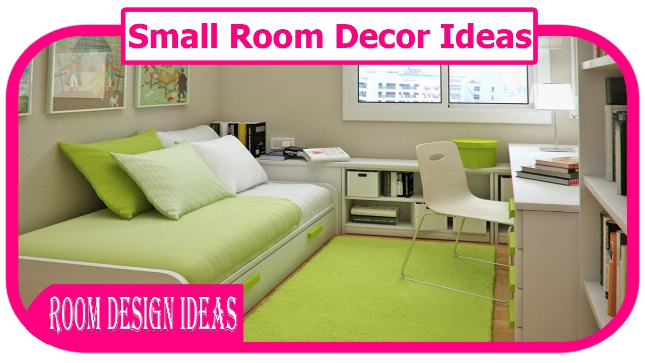 Bedroom Decor Small Rooms small room decor ideas - small space decorating ideas - youtube