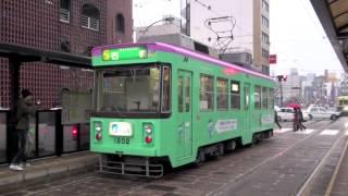 【長崎電気軌道】1200形1202@賑橋('12/01)