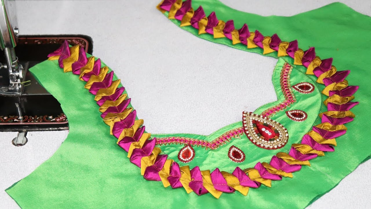 In blouse youtube telugu models neck kids manufacturers