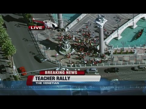 Preview: Teacher rally on Las Vegas Strip
