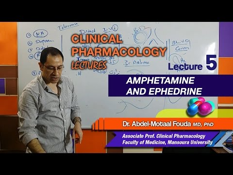 Autonomic Pharmacology - Lec 05 - Amphetamine and Ephedrine