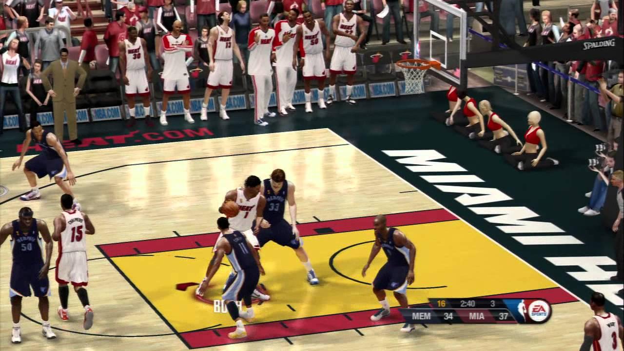 NBA Live 10 2013 Heat vs 2013 Grizzlies Finals 5min Quarters - YouTube