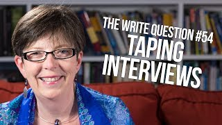 The Write Question #54: How to take notes in an interview?
