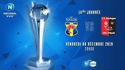 14e journée - match reporté : Toulon - Boulogne I National FFF 2019-2020
