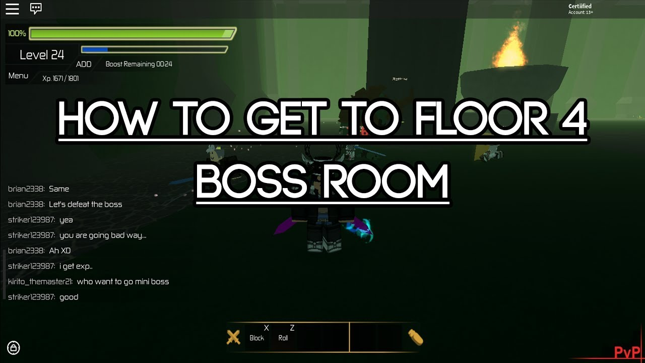 roblox swordburst 2 how to get to floor 4 mini boss room youtube. Black Bedroom Furniture Sets. Home Design Ideas
