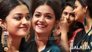 Ever Adorable Keerthy Suresh Unseen Cute Moments | Galatta Nakshatra Awards