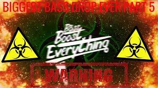 BIGGEST BASS DROP EVER! (EXTREME BASS TEST!!!) PART 5