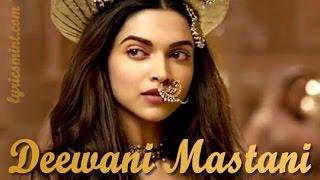 Gambar cover Deewani Mastani Lyrics   Bajirao Mastani  Shreya Ghoshal