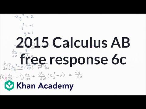 2015 AP Calculus AB 6c