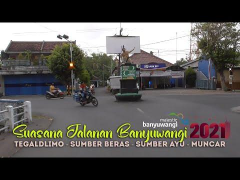 Suasana Jalanan Tegaldlimo - Sumberberas - Sumberayu Muncar Banyuwangi 2021