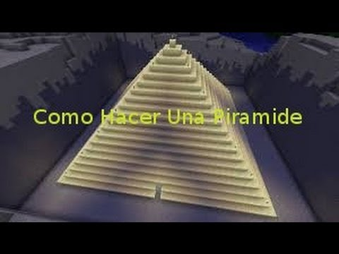 Como hacer una piramide en minecraft youtube for Como construir una pileta de agua