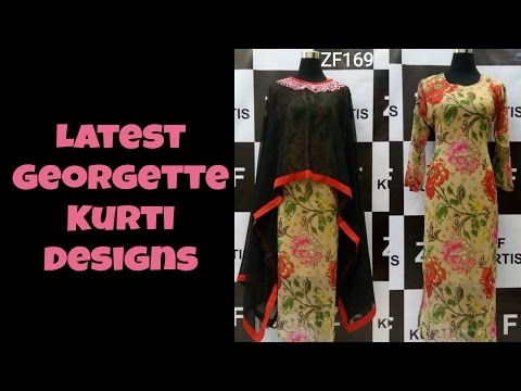 Latest Georgette Kurti Designs Part 05