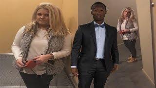 White Woman Blocks Black Man From Enter...