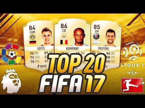 FIFA 17 - TOP 20 JOUEURS LIGUE 1, BUNDESLIGA, LIGA ET PREMIER LEAGUE !