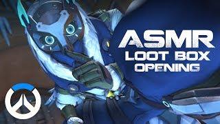 [ASMR] Binaural Overwatch: Opening 51 Winter Loot Boxes