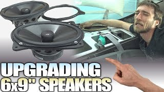 How To INSTALL 6x9 Speakers & Replace Stock REAR DECK Speaker Ring Adapters / Installing NVX Coaxial