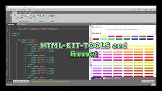 HTML KIT TOOLS with Emmet