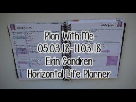Plan With Me - 05.03.18-11.03.18 - Erin Condren Horizontal Planner
