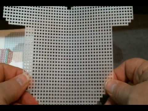 How To Cut And Count Plastic Canvas Wmv Youtube