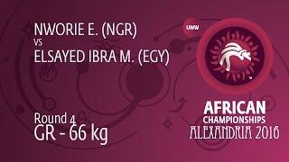 Round 4 GR - 66 kg: M. ELSAYED IBRA (EGY) df. E. NWORIE (NGR), 0-0