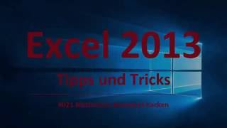 Excel Tipps und Tricks #21 Blattschutz Kennwort hacken