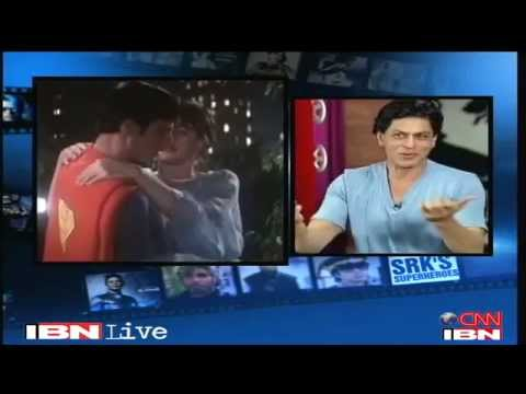 SRK speaking about his favourite superhero Superman and about the curse of superman