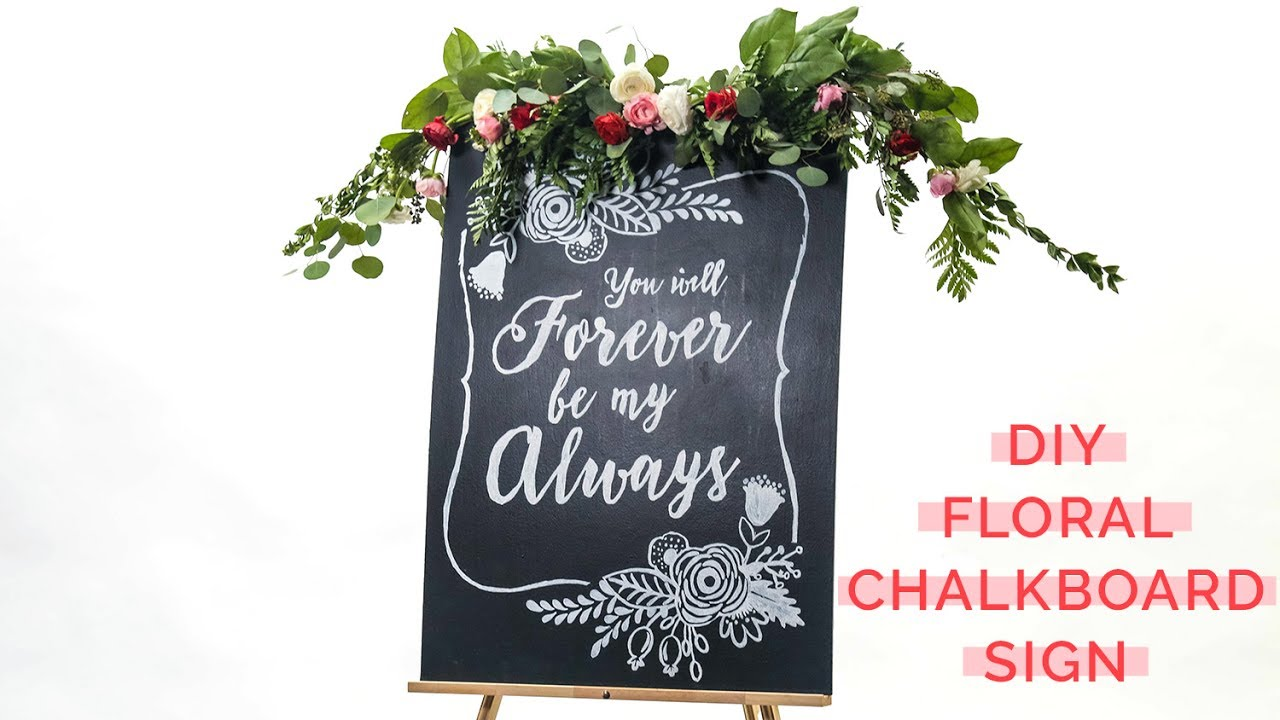 DIY Rustic Chalkboard Wedding Signs