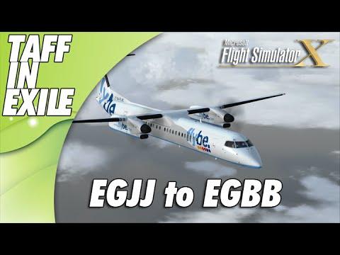 FSX - Majestic Q400 Dash 8 - Jersey EGJJ - Birmingham EGBB