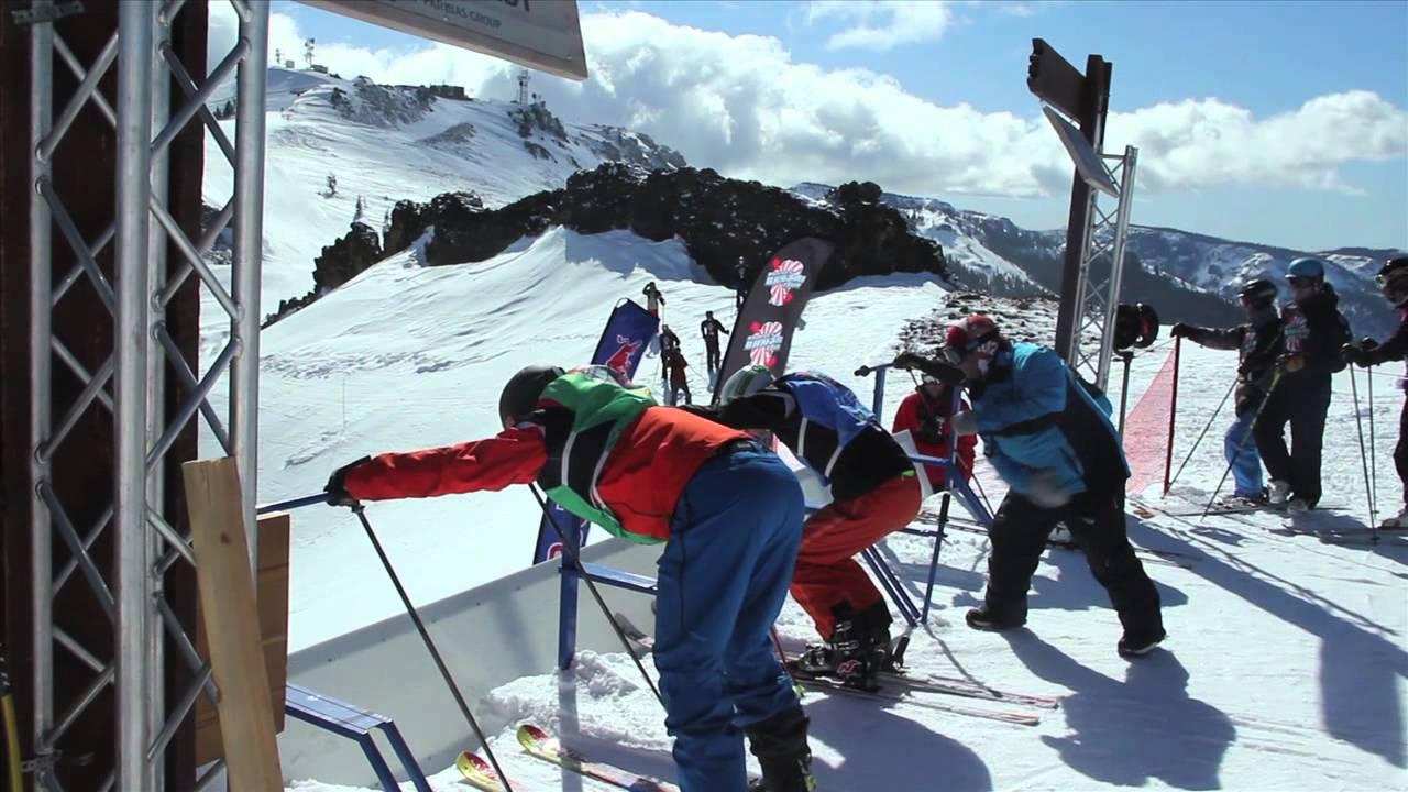 world champion ski tips with daron rahlves start gate