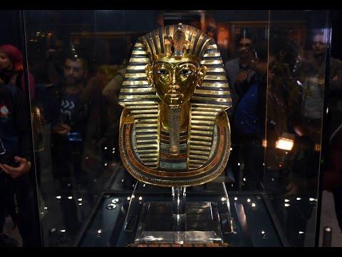 Egyptian King's Gold Mask Back On Display After Restoration