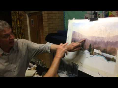 Lichfield Society of Artists: Watercolour demonstration by artist Geoff Kersey, 09.09.2015