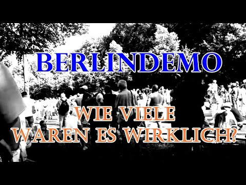 Berlindemo - eine realistische Schätzung der Teilnehmerzahl