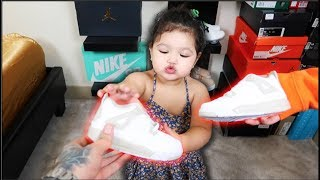 1 YEAR OLD BABY SHOWS HER SHOE COLLECTION!!!