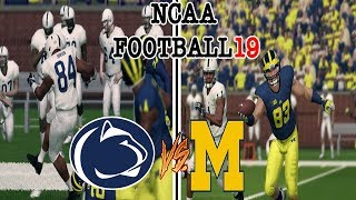 NCAA Football 19 #5 MICHIGAN vs #14 PENN STATE NCAA 14 Updated Rosters