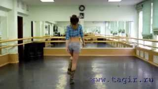 Видео уроки танца живота: Ковбойский танец (1 часть спиной)