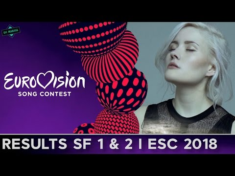 Results Semi Finals 1 & 2 l Eurovision 2018: My Ideal Contest