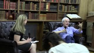 Poet Charles Simic with Novelist Tea Obreht