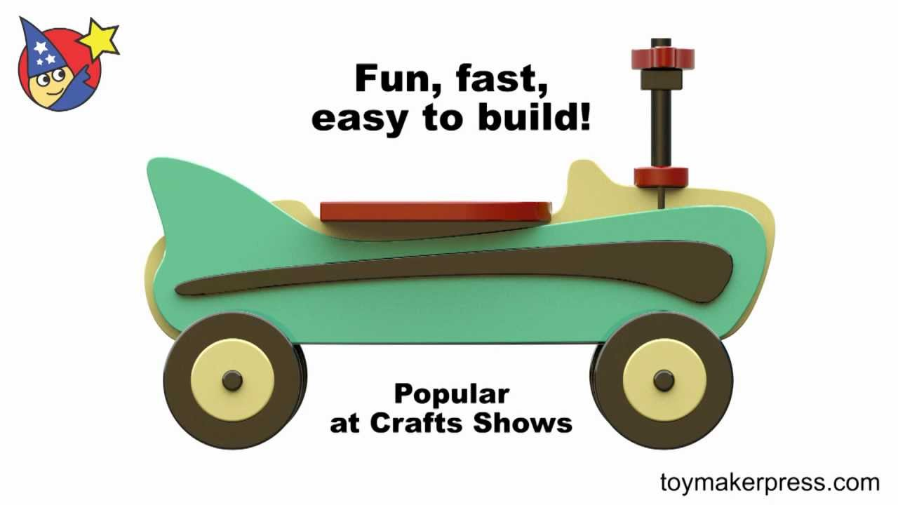 Wood Toy Plans Retro 1957 Riding Toy Car Youtube