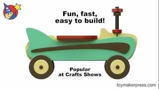 Wood Toy Plans - Retro 1957 Riding Toy Car