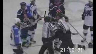 Krivchenko v. Petrov fight 10/18/07 (Russian hockey)